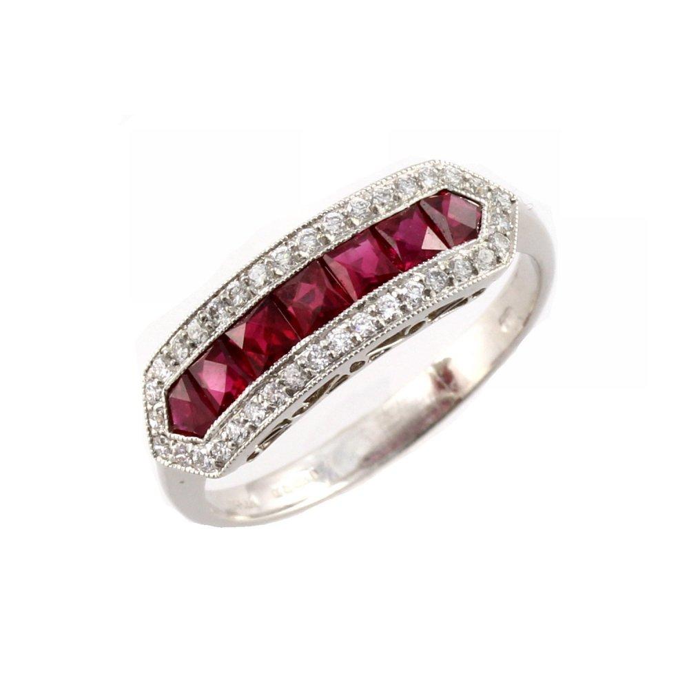 platinum ruby half eternity ring from mr