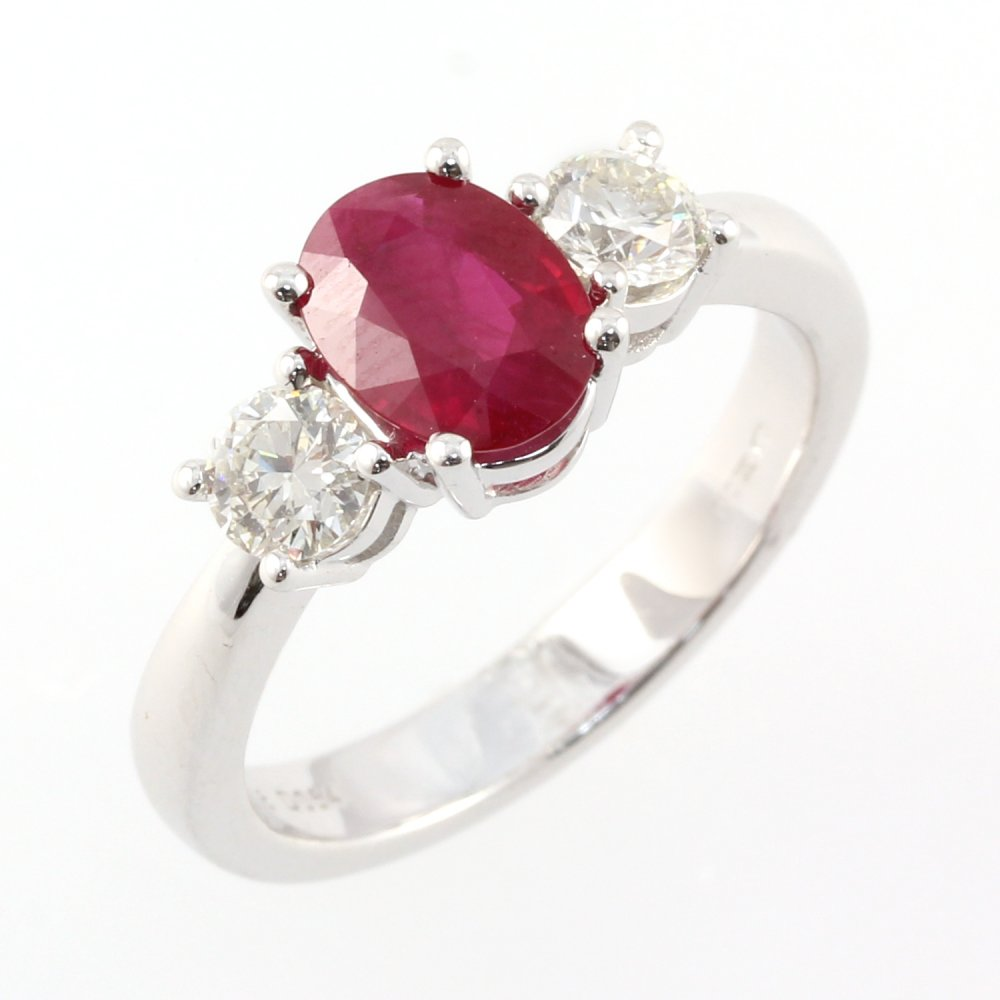 platinum oval 1 20ct ruby 0 50ct 3