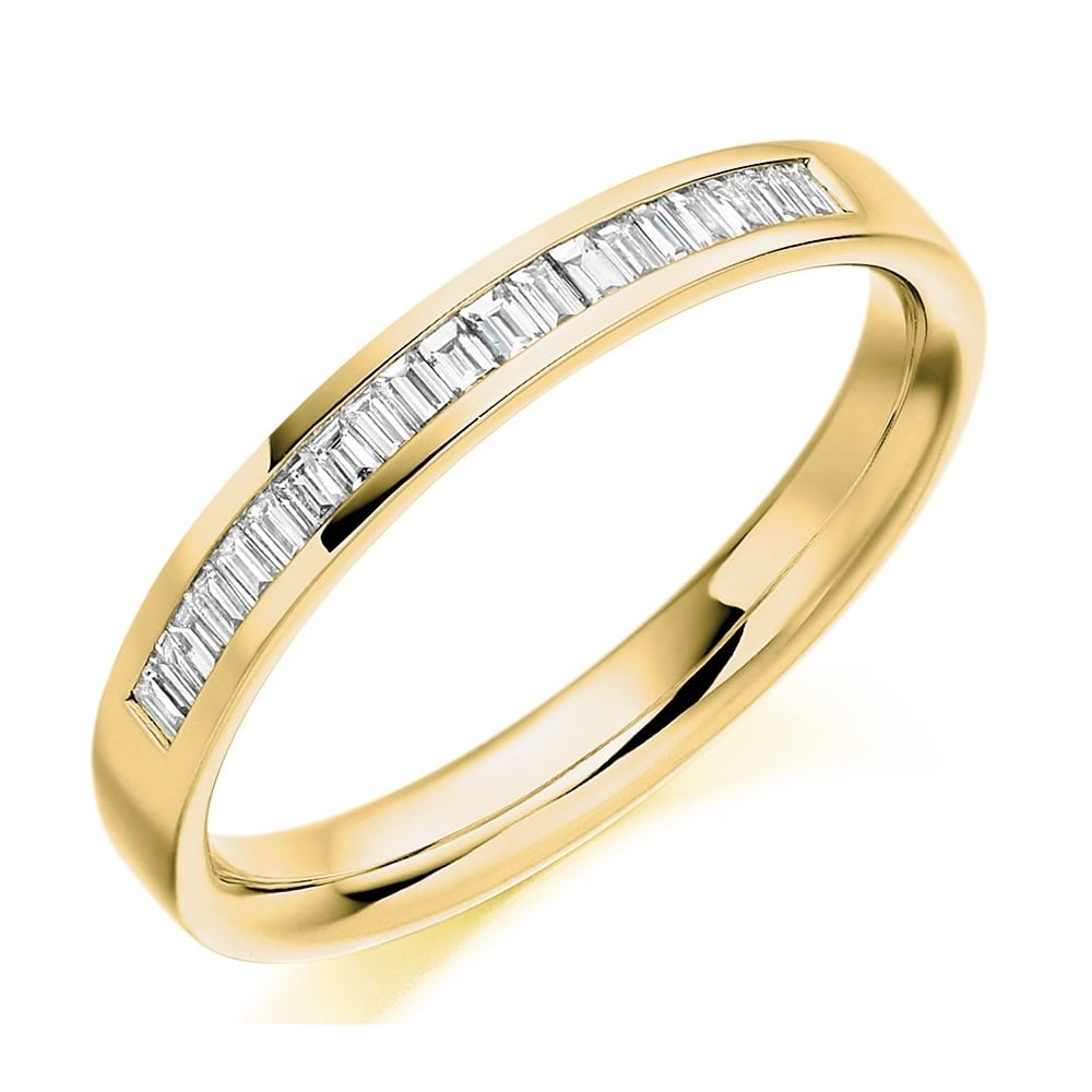 The Raphael Collection 18ct Yellow Gold 0 20ct Baguette
