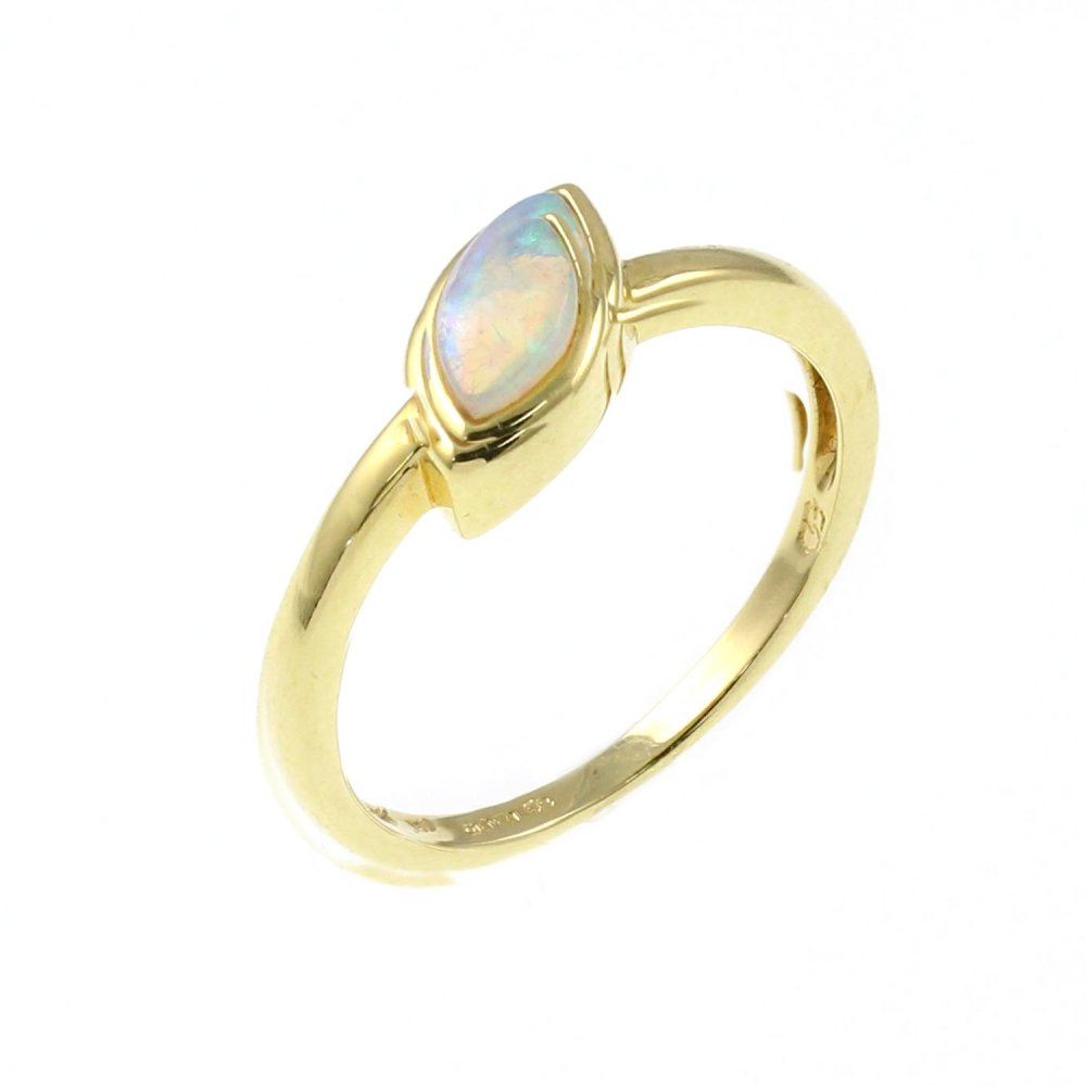 18ct yellow gold 0 31ct marquise opal ring from mr