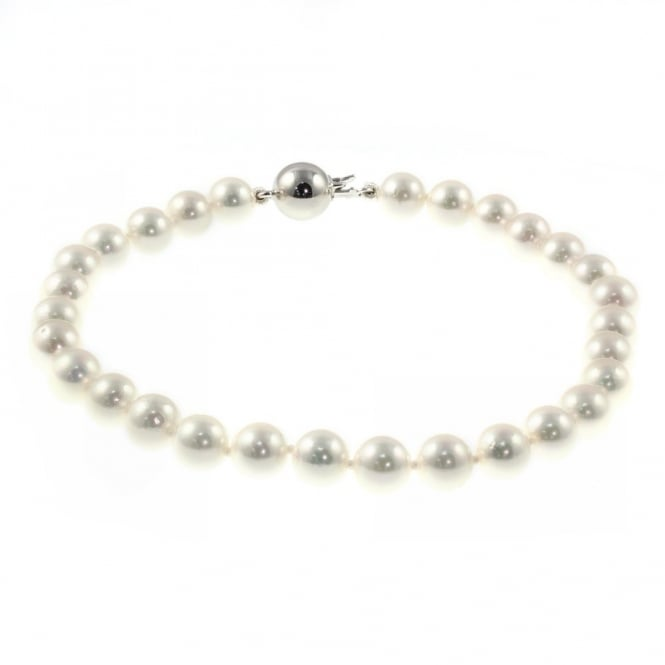 Matt Aminoff Pearls 14ct white gold 5.5x6mm akoya pearl bracelet.