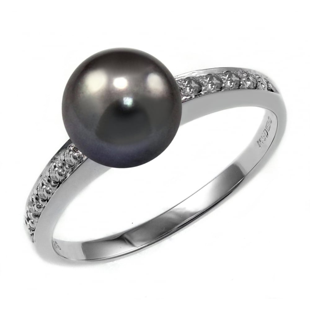 diamond ring black pearl pear engagement products with rings