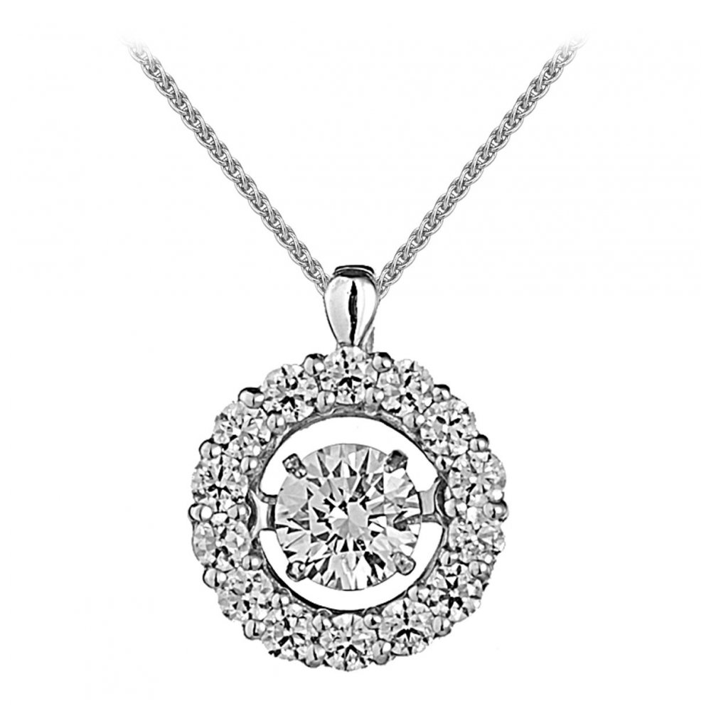 Rhythm of love 18ct 020ct halo design diamond pendant diamond 18ct 020ct halo design diamond pendant aloadofball Images