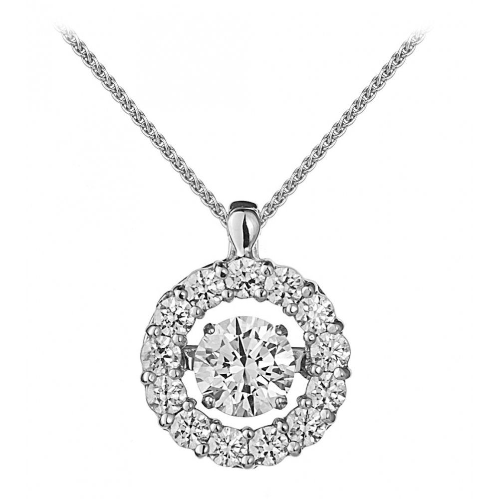 Rhythm of love 18ct 100ct halo design diamond pendant jewellery 18ct 100ct halo design diamond pendant aloadofball Images