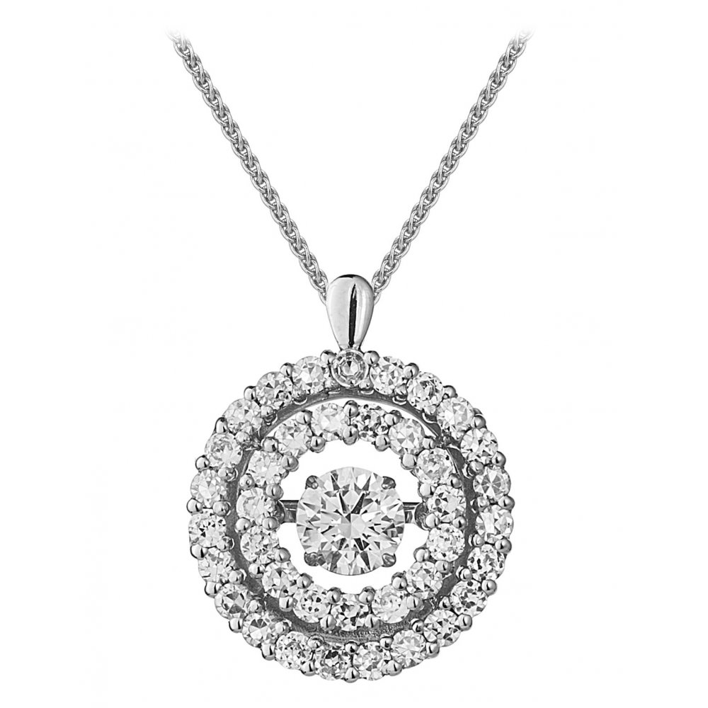 Rhythm of love 18ct 175ct double halo design diamond pendant 18ct 175ct double halo design diamond pendant aloadofball Images