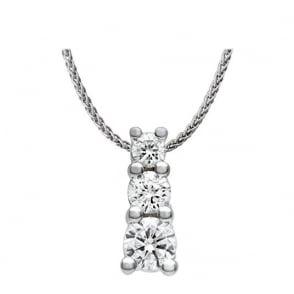 Rhythm of love 18ct 175ct double halo design diamond pendant 18ct gold 075ct round brilliant cut diamond trilogy pendant audiocablefo light Images