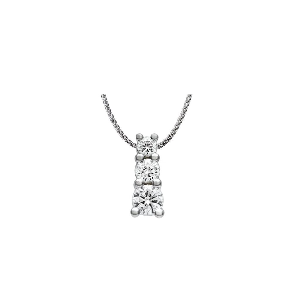 18ct gold 100ct round brilliant cut diamond trilogy pendant 18ct gold 100ct round brilliant cut diamond trilogy pendant audiocablefo