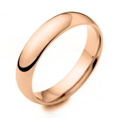 18ct rose gold 5.00mm heavy court wedding band.