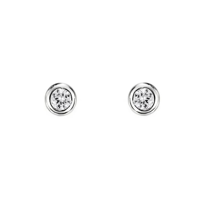 18ct white gold 0.14ct round brilliant cut diamond stud earrings
