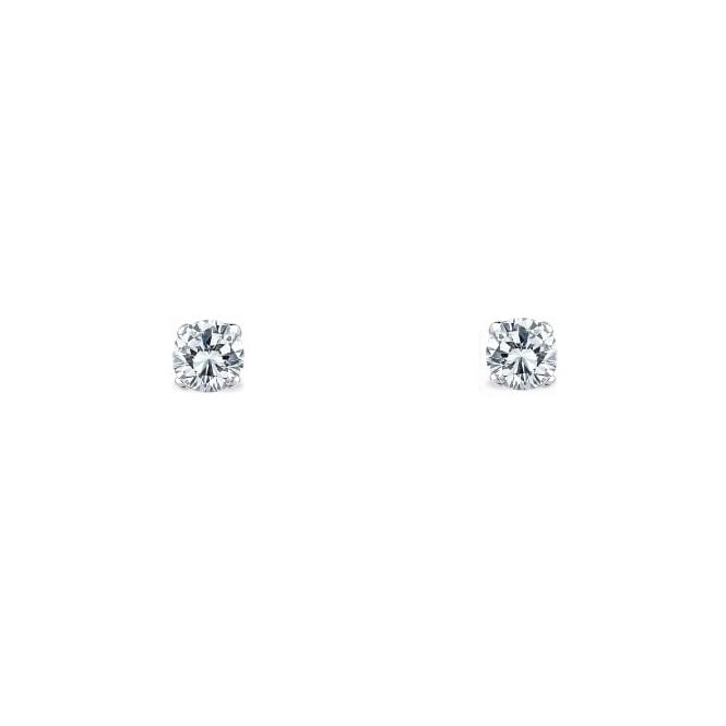 18ct white gold 0.27ct round brilliant diamond stud earrings