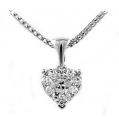 a3cce890cb3d6a 18ct white gold 0.35ct heart shaped diamond pendant