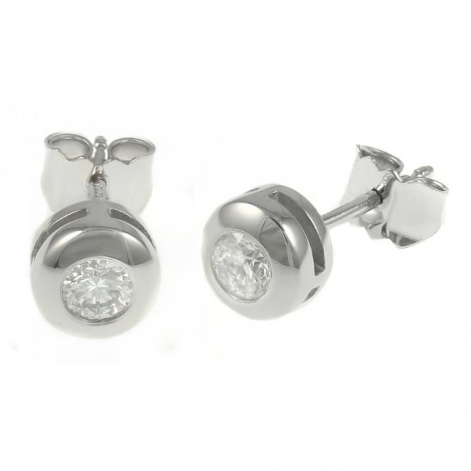 18ct white gold 0.35ct round brilliant diamond stud earrings