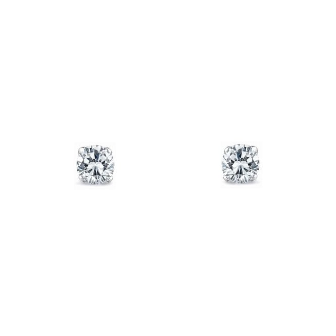 18ct white gold 0.37ct round brilliant diamond stud earrings