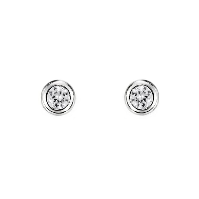 18ct white gold 0.50ct round brilliant diamond stud earrings