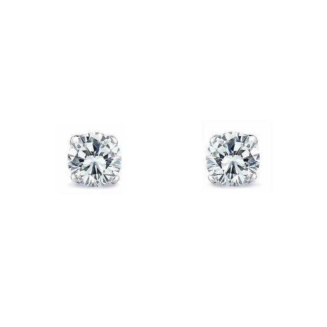 18ct white gold 0.53ct round brilliant diamond stud earrings