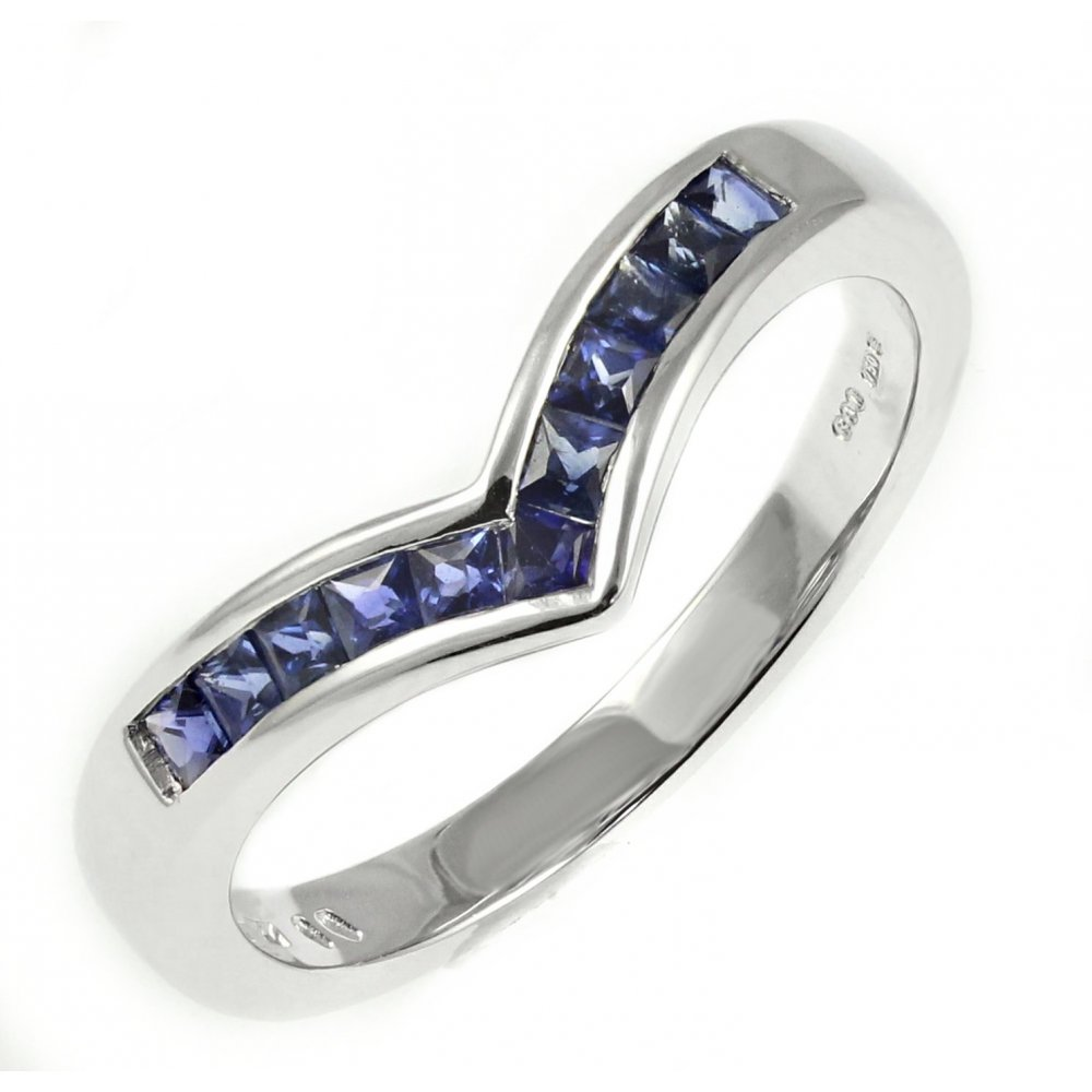 shop platinum ring eternity band tw p ct amp and sapphire in diamond