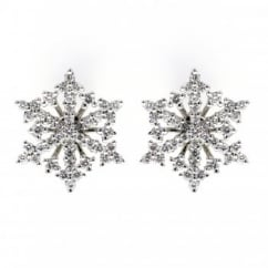 18ct white gold 0.57ct snowflake diamond stud earrings.