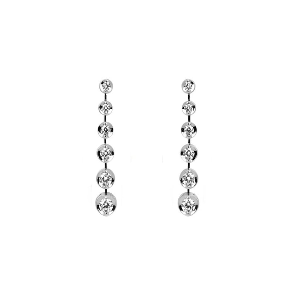 f91647394 18ct white gold 0.58ct diamond drop earrings - Jewellery from Mr Harold and  Son UK