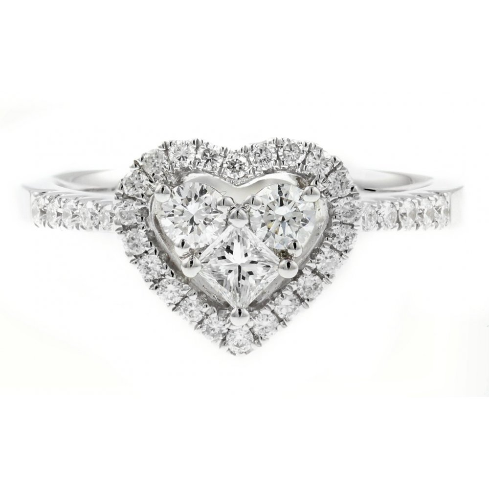 design s berrys amp shape rings engagement diamond ring image platinum surround heart berry
