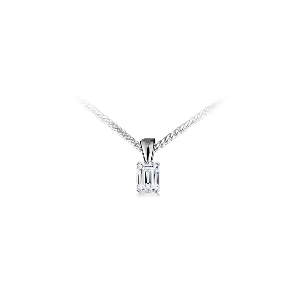emerald cut necklaces silver faceted pendant sterling tanzanite necklace