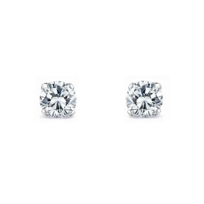 18ct white gold 0.70ct round brilliant cut diamond stud earrings