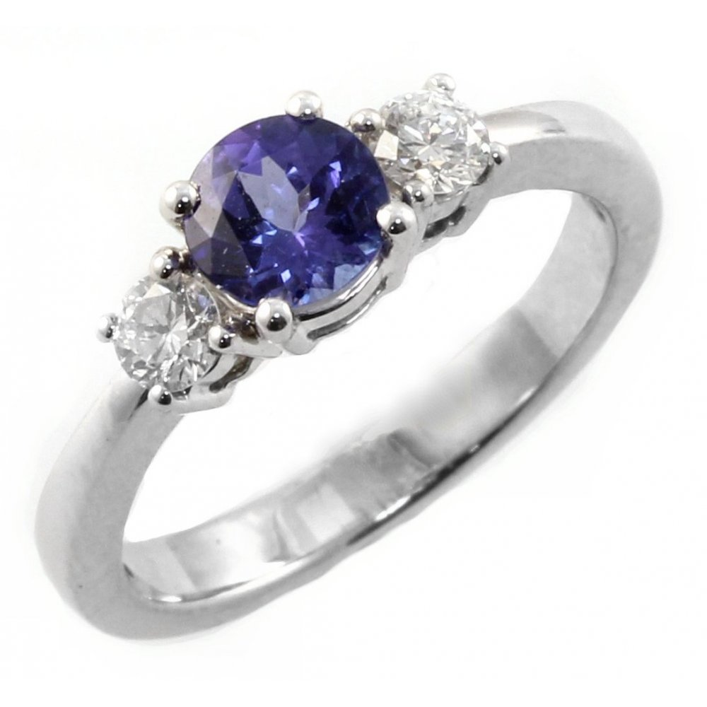 boutique halo ring tanzanite product and yellow gold diamond rings image engagement