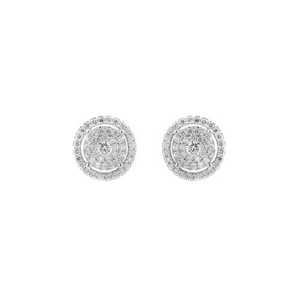 earrings diamond j gold products invisible setting beautiful white stud set