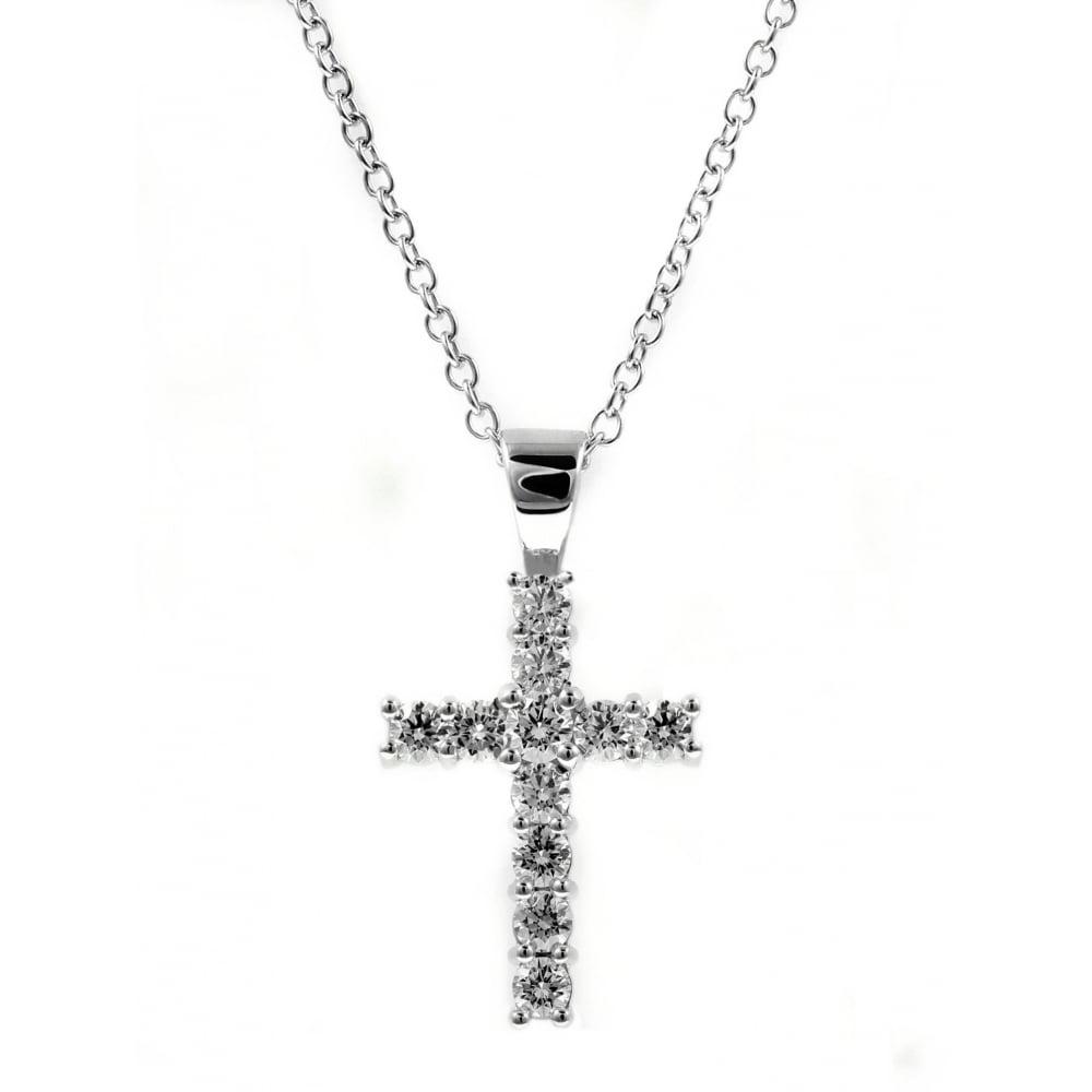 18ct white gold 100ct round brilliant diamond cross pendant 18ct white gold 100ct round brilliant diamond cross pendant aloadofball Gallery