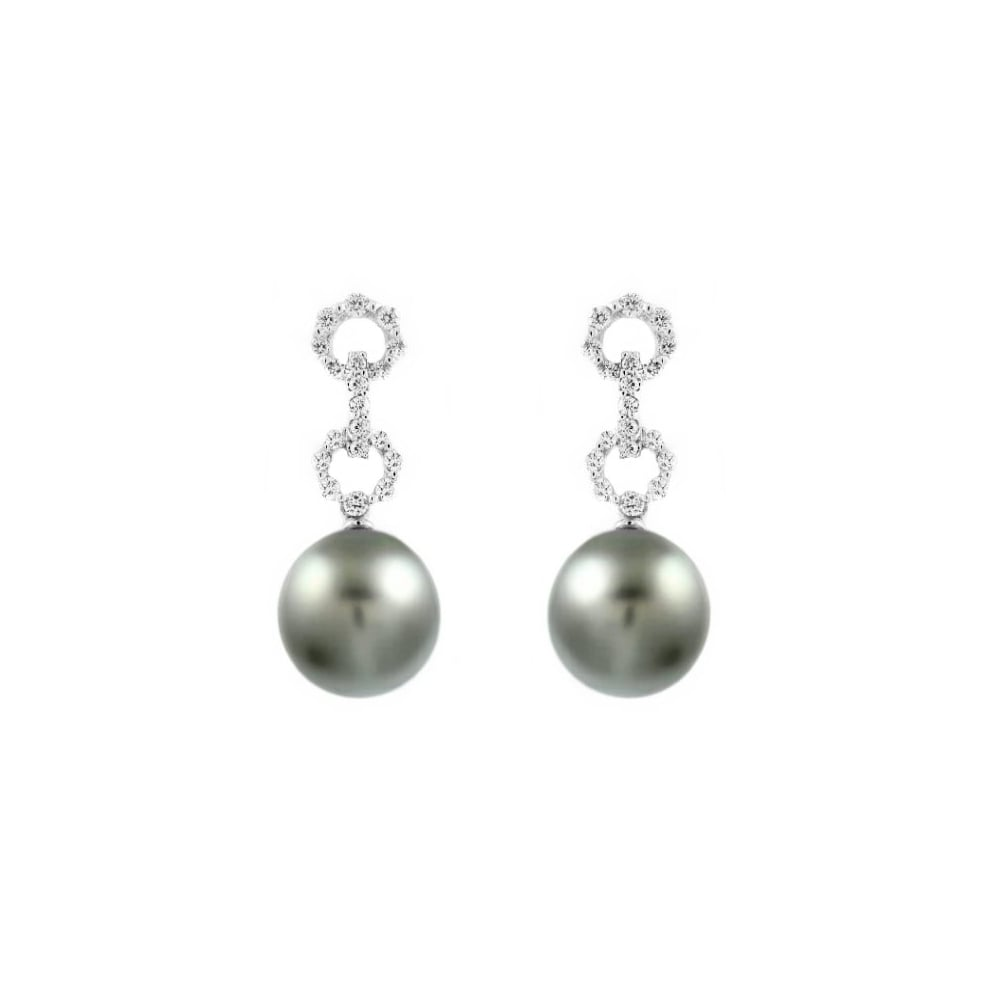 e866887e5 Matt Aminoff Pearls 18ct white gold 11mm Tahitian pearl & 0.46ct ...