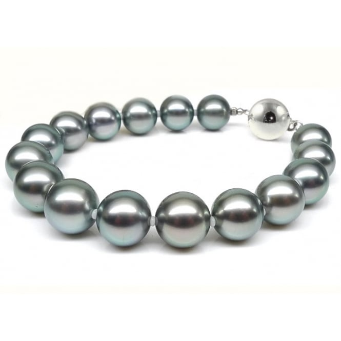 Matt Aminoff Pearls 18ct white gold 11x12mm Tahitian pearl bracelet.