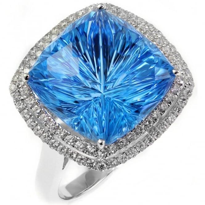 Topaz White Gold Ring Preowned