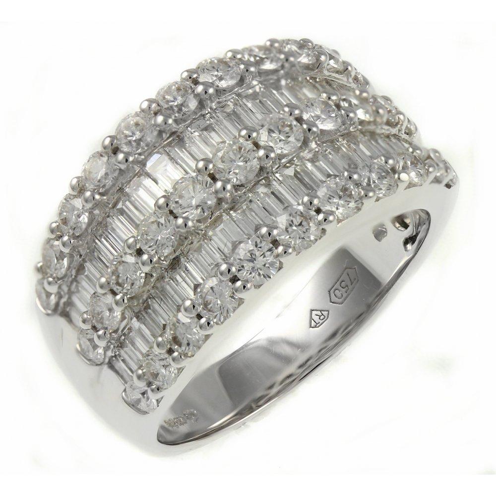 Half Eternity Baguette Diamond Ring