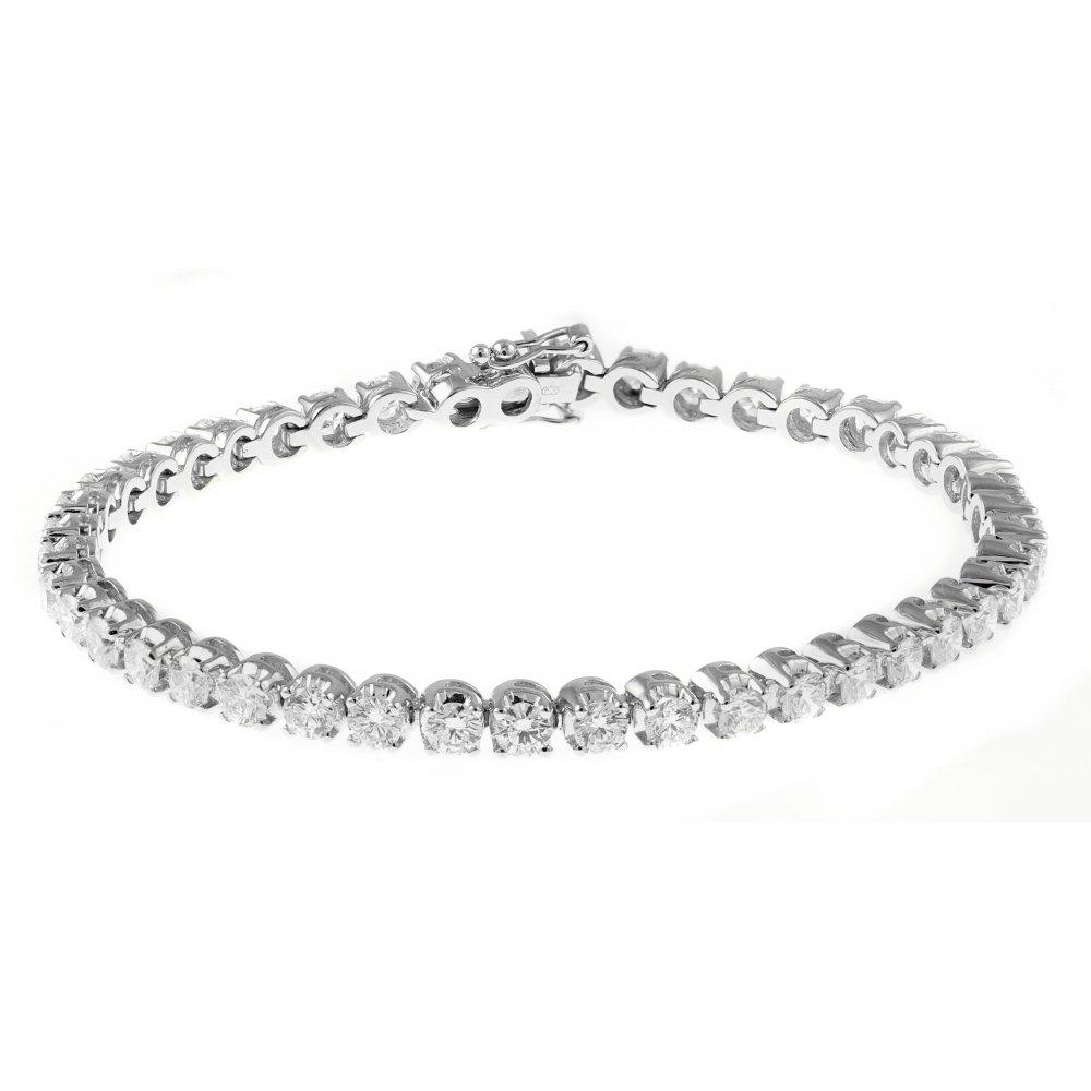 18ct White Gold 5 00ct Round Brilliant Diamond Tennis Bracelet