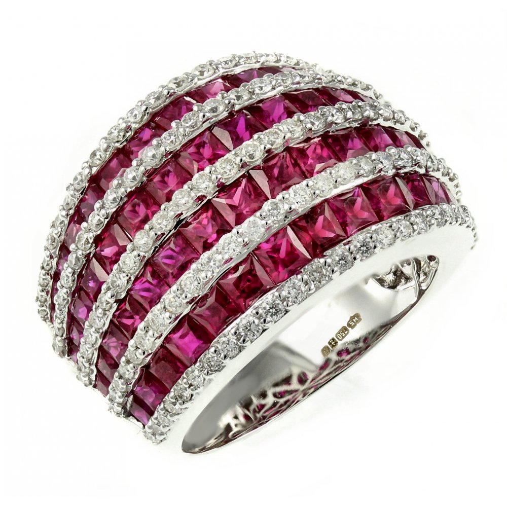 Gorgeous Women Wedding Oval Red Ruby Sapphire Crystal Yellow Gold Cluster Ring
