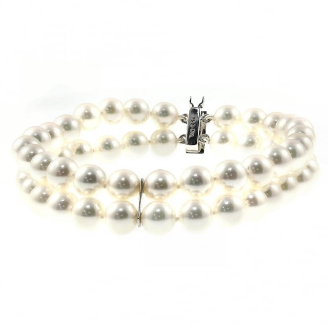 Matt Aminoff Pearls 18ct white gold double row 6.5x7mm pearl bracelet.