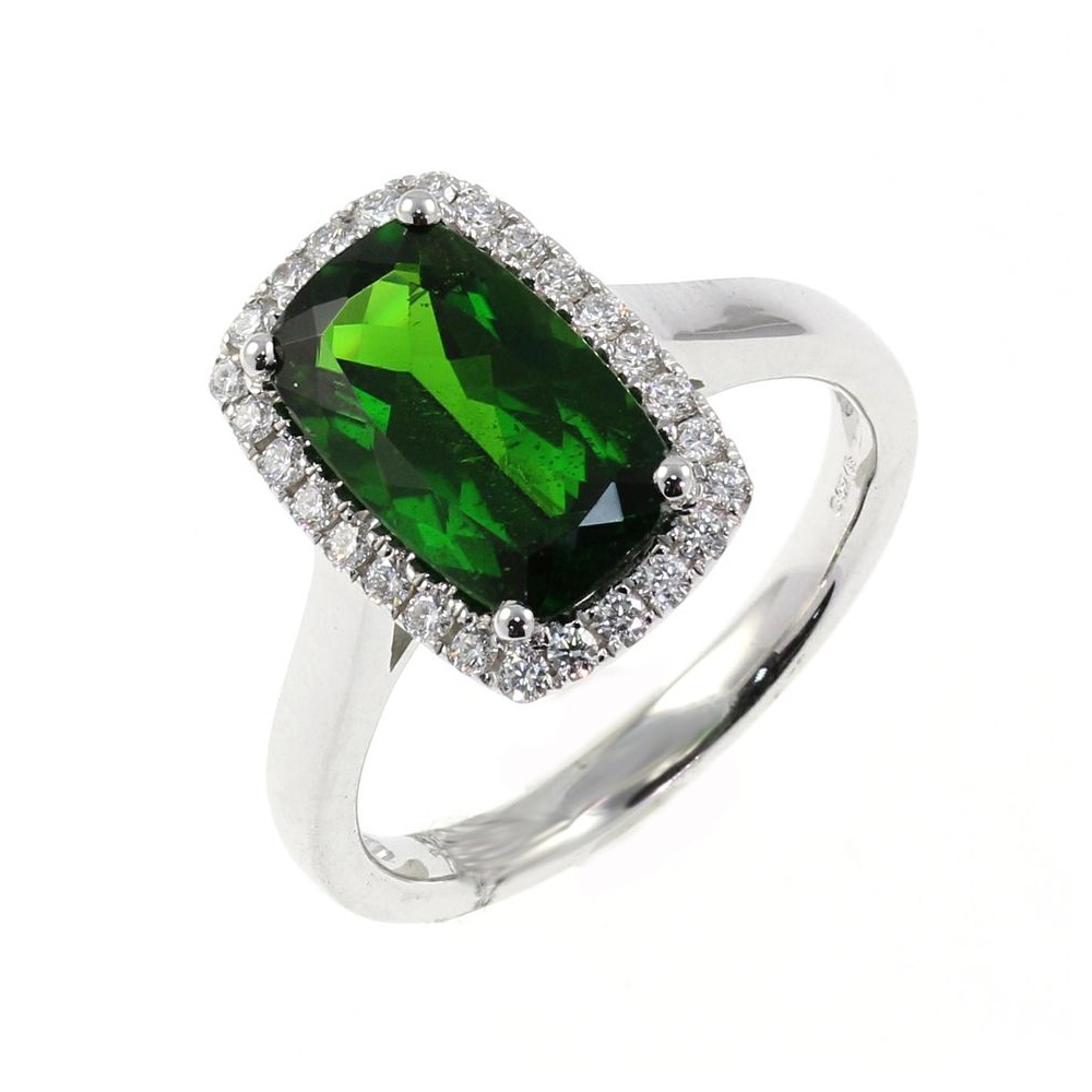 ring collections products palladium engagement platinum set sapphires balance bespoke tourmaline white baguettes with sapphire and green rings copy