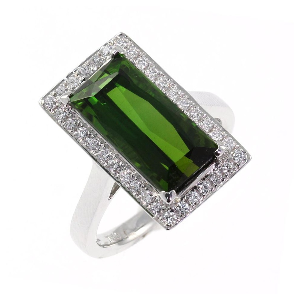 ring v shape emerald set cut rings gold green tourmaline pin white stone engagement