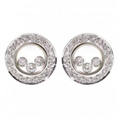 18ct white gold moving diamond stud earrings.