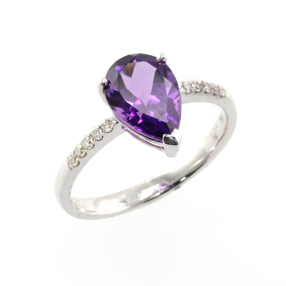 silver ana size handcrafted amethyst ring by sterling products co rings