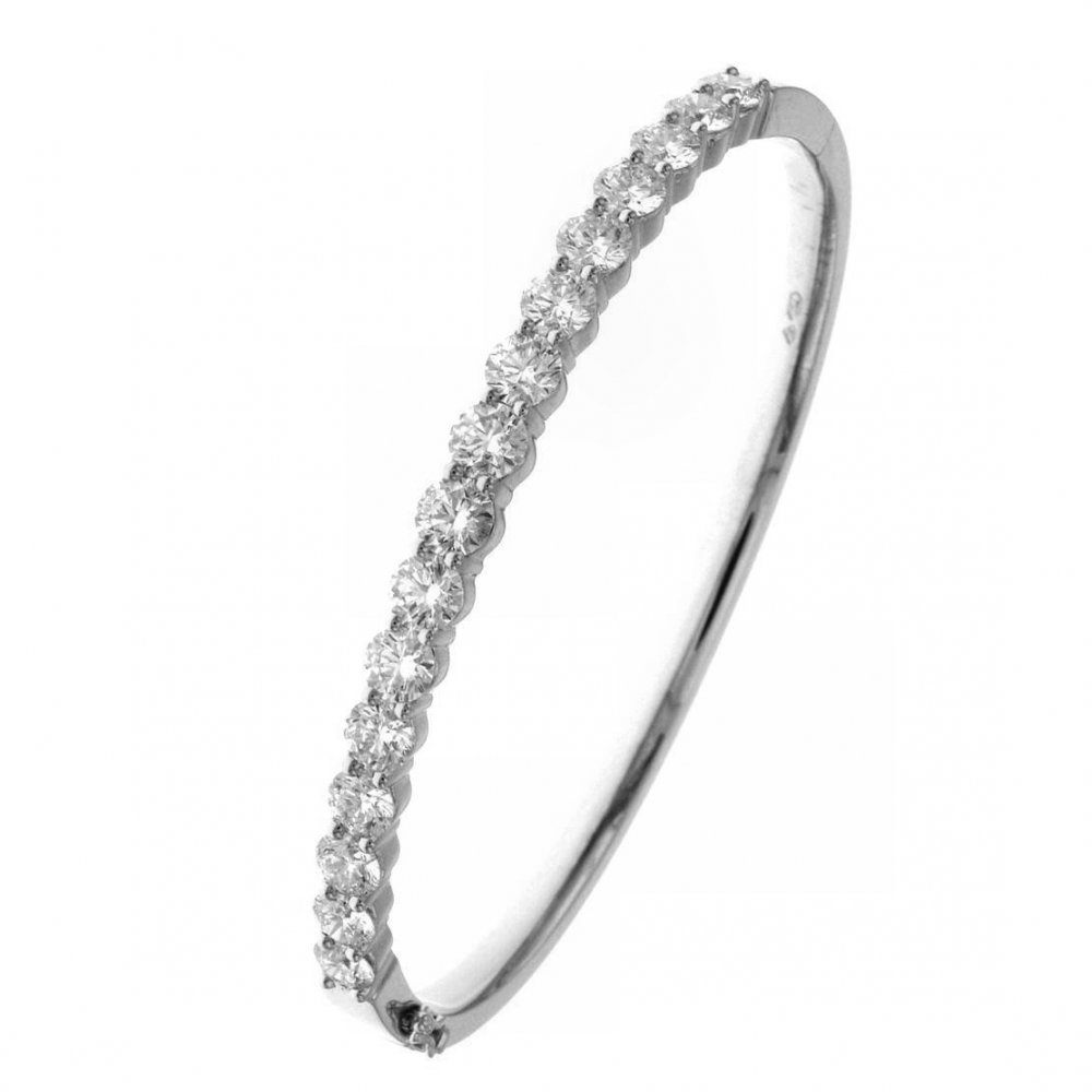 hinged ct silver heart itm sterling bangle bracelet diamond in