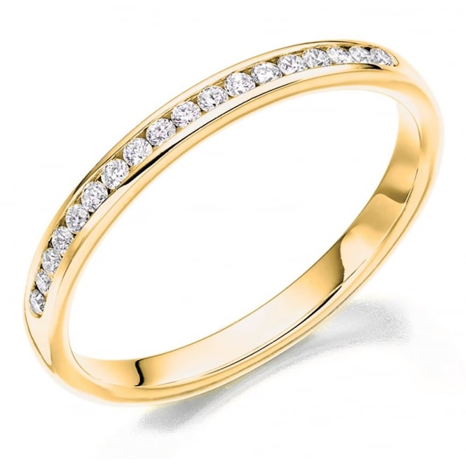 The Raphael Collection 18ct yellow gold 0.20ct round brill diamond half eternity ring.