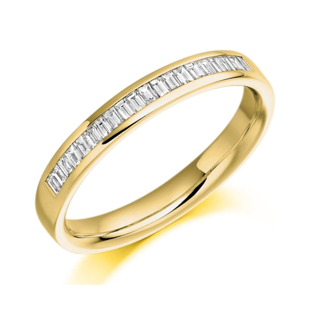 the raphael collection 18ct yellow gold 0 26ct baguette