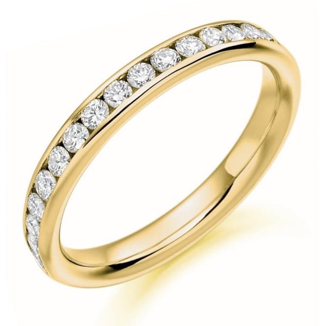 The Raphael Collection 18ct yellow gold 0.42ct round brill diamond half eternity ring.
