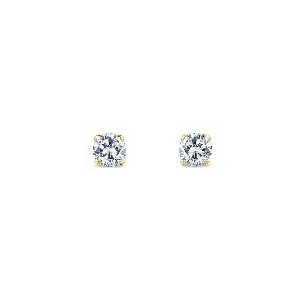 3469b919e0613 18ct yellow gold 0.50ct F VS2 EGL diamond stud earrings