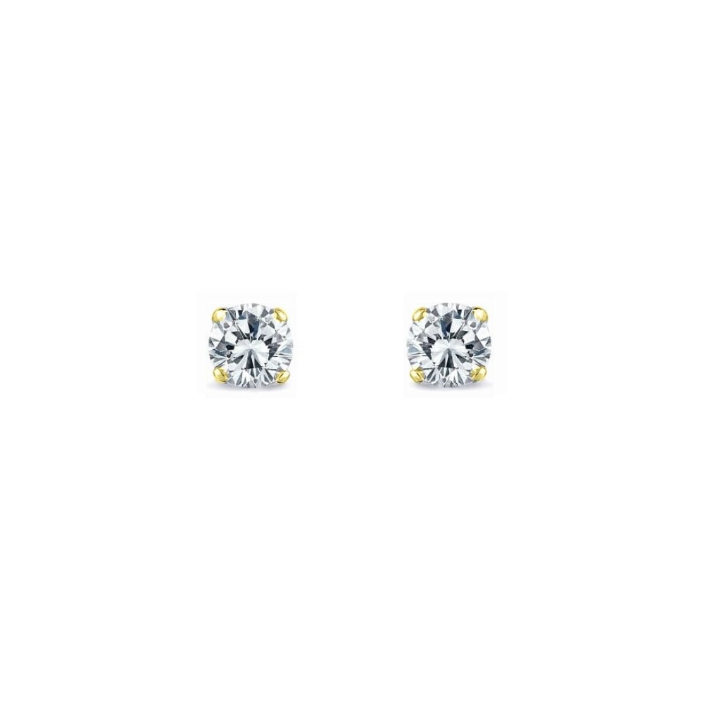 18ct Yellow Gold 0 83ct Round Brilliant Diamond Stud Earrings