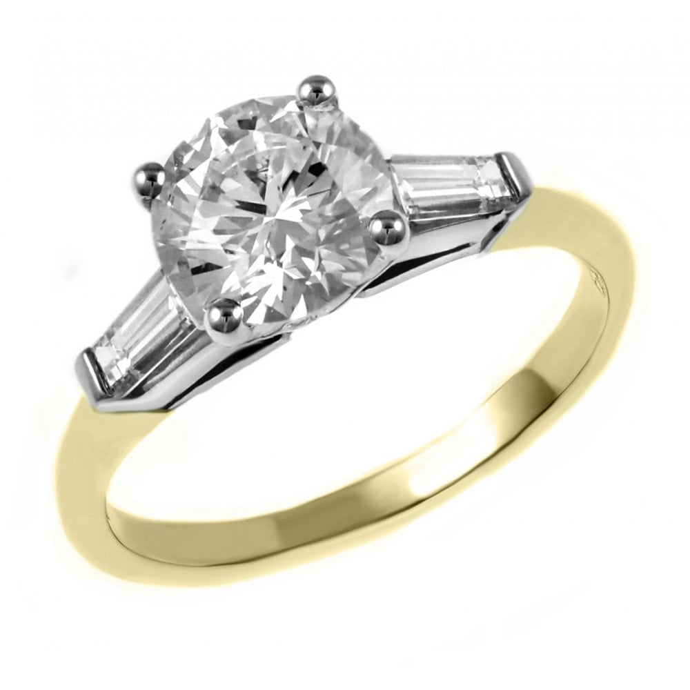 18ct Yellow Gold 1 01ct F Si2 Igi Round Brilliant Diamond Ring Engagement From Mr Harold And Son Uk