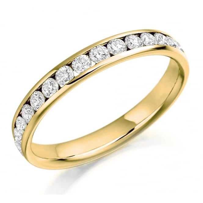 The Raphael Collection 18ct yellow gold 1.04ct round brill diamond full eternity ring.