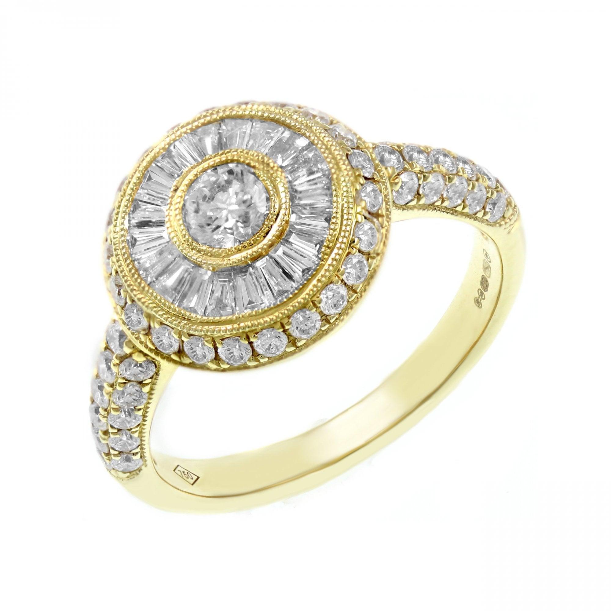 18ct Yellow Gold 1 16ct Circular Art Deco Diamond Ring Jewellery From Mr Harold And Son Uk