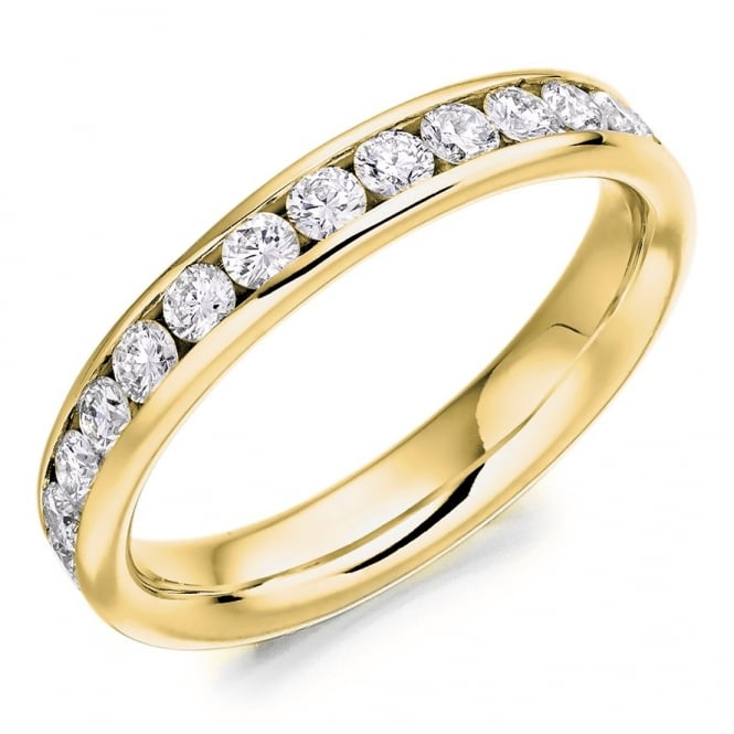 The Raphael Collection 18ct yellow gold 1.30ct round brill diamond full eternity ring.