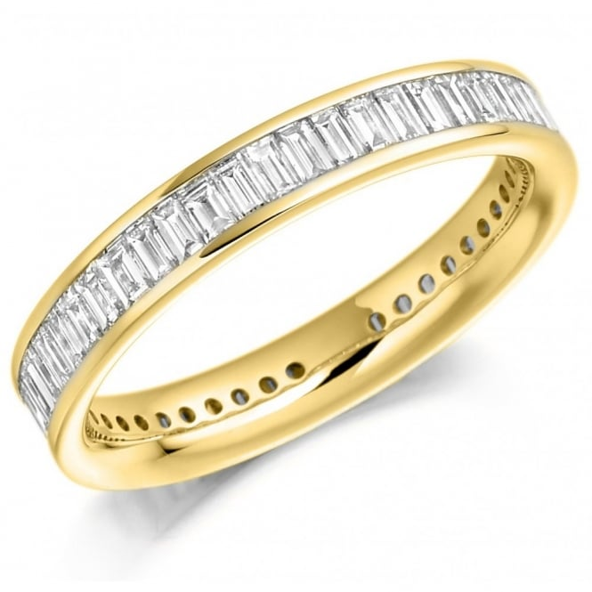 The Raphael Collection 18ct yellow gold 1.50ct baguette cut diamond full eternity ring.